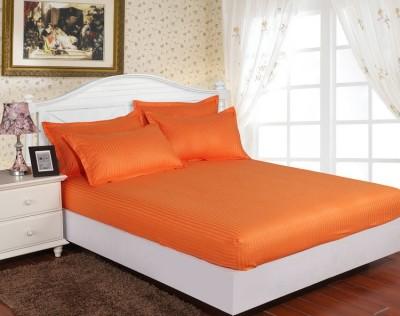 Set husa de pat din damasc+ 2 fete de perna pentru saltea de 140x200cm DHUS9
