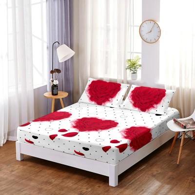 Set husa de pat din finet + 2 fete de perna pentru saltea de 140x200cm HPF225