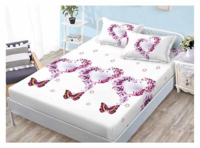 Set husa de pat din finet + 2 fete de perna pentru saltea de 160x200cm HPF14