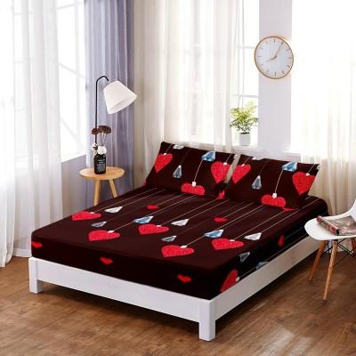 Set husa de pat din finet + 2 fete de perna pentru saltea de 160x200cm HPF229