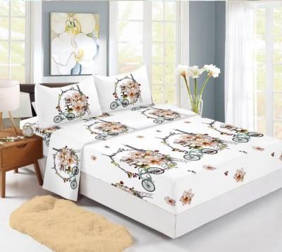 Set husa de pat din finet + 2 fete de perna pentru saltea de 160x200cm, HPF314