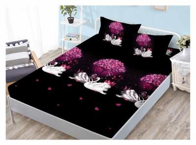 Set husa de pat din finet + 2 fete de perna pentru saltea de 180x200cm HPF124