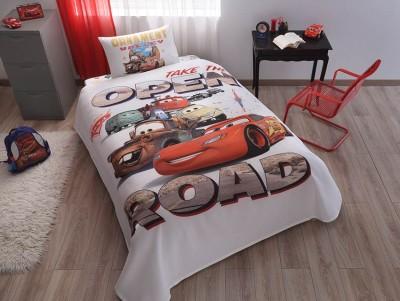 Set pique (cuvertura + cearceaf pat + fata perna) Disney Cars ornament
