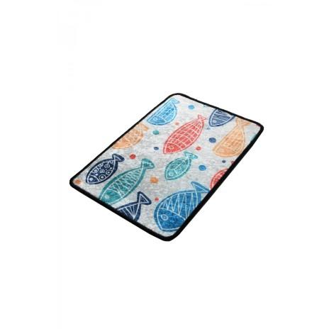 Covoras baie 40x60 cm, Alessia Home, Fish DJT - Colourful