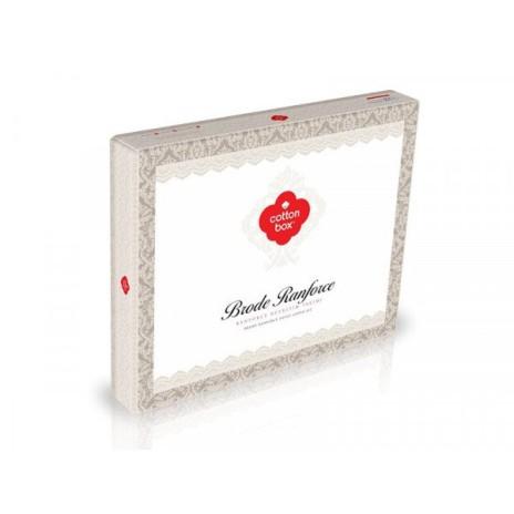 Lenjerie de pat de lux cu dantela, Cotton Box, Enzo Maroon