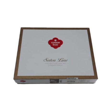 Lenjerie de pat premium satin de lux, Cotton Box, Jerome - Beige