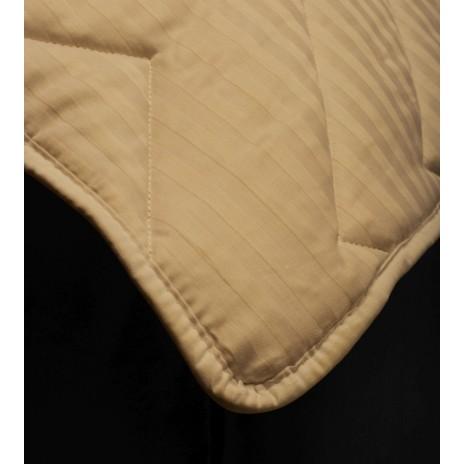 Pilota 100% naturala cu fata damasc si umplutura lâna 200x215cm, Pucioasa, Cappuccino