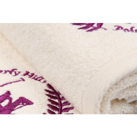Set 2 prosoape 70x140cm bumbac 100%, Beverly Hills Polo Club, 402 - Cream v01
